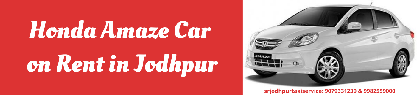 Hire Honda Amaze Car on Rent in Jodhpur